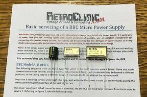ACORN-BBC-MICRO-amp-MASTER-HIGH-QUALITY-POWER-SUPPLY-3x-CAPACITOR-CAP-KIT