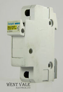 Details about Hager L116 00 - 10 x 25mm - 20amp Cartridge Fuse Holder on