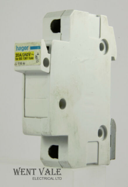 hager l116 00 10 x 25mm 20amp cartridge fuse holder ebay rh ebay co uk hager fuse box rcd controlled circuits hager fuse box rcd controlled circuits