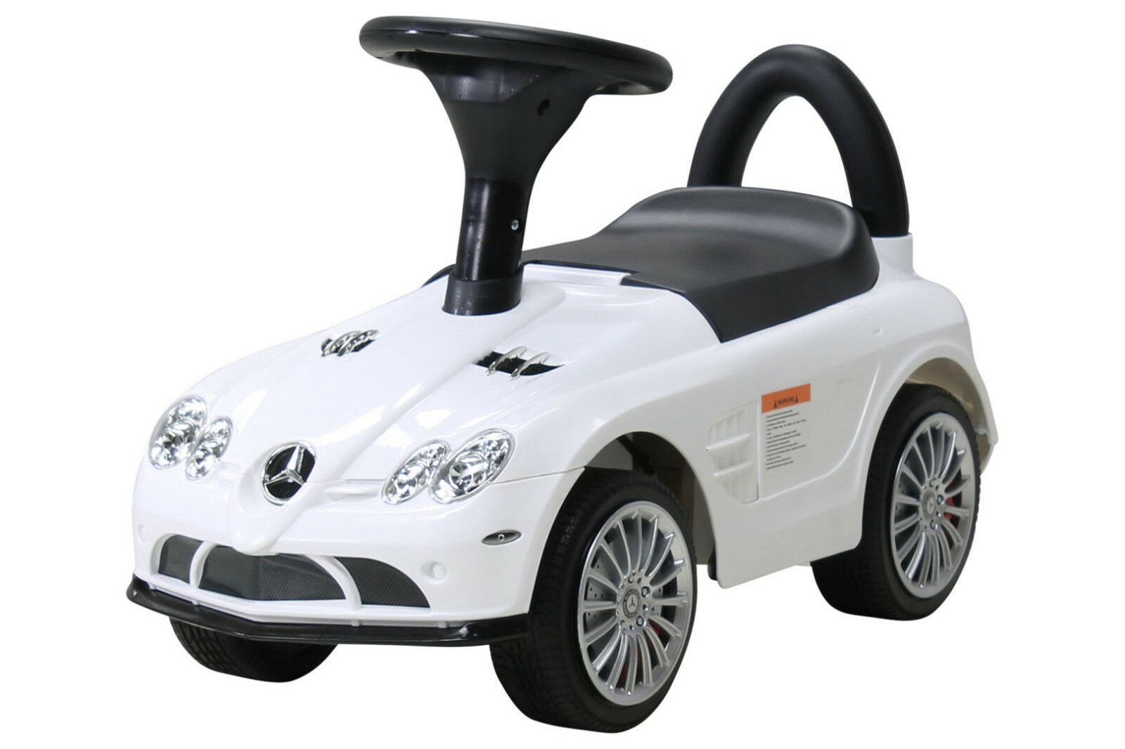 Kinderauto Rutschauto Bobby Car Mercedes SLR lizenziert weiß Staufach Musik Hupe