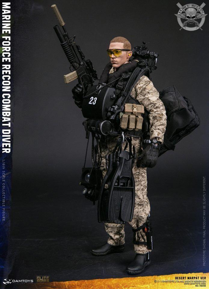 DAM Toys 1 6 Marine Force Recon Combat Diver (Desert MARPAT) DAM-78056