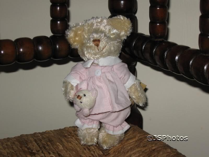 PMS UK Soft Sensations Girl Bear Holding Baby bear