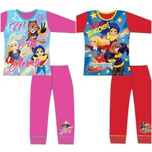 20a876a1ec Image is loading Girls-DC-Comic-Pjs-Kids-Superhero-Pyjamas-Supergirl-
