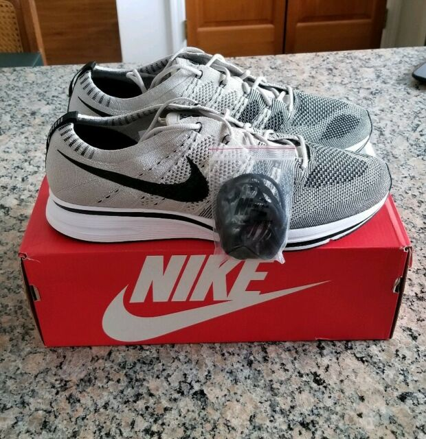 24834acf5090 Nike Flyknit Trainer OG Pale Grey Gray Black White Size 12 NEW AH8396-001  Shoes