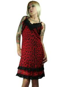 NEW-Too-Fast-Red-Leopard-Ithaca-Slip-Dress-Gothic-Punk-Lolita-Pinup-S