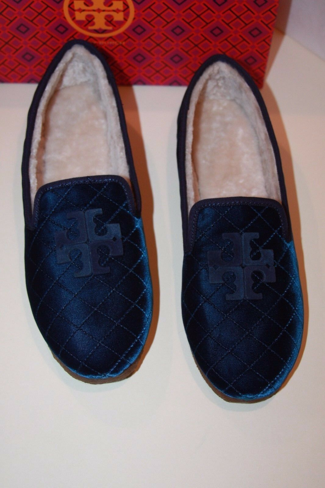 Tory Burch Blau Billy 2 Blau Burch Velvet Grosgrain Loafers  Damens's Größe 11 m c63169