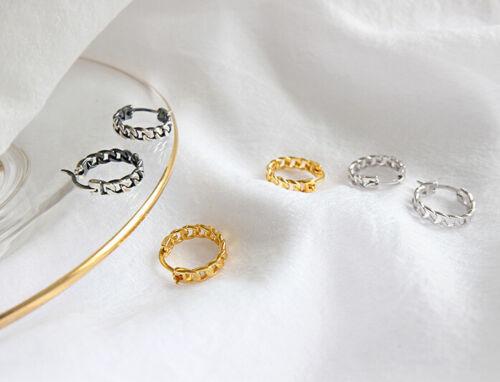 "Klapp Creolen /""Kette/"" echt Sterling Silber 925 Damen Ohrringe Kreolen"