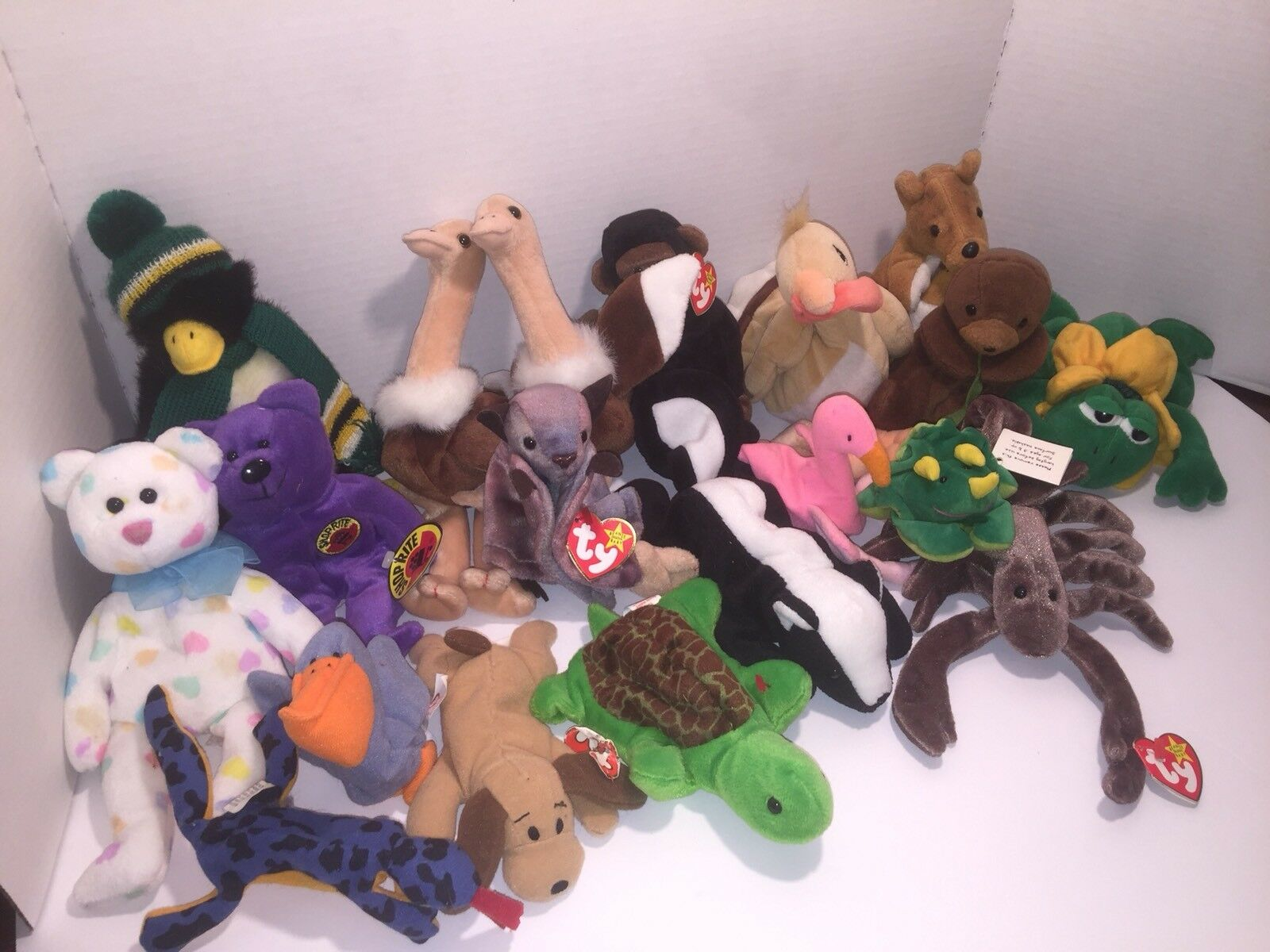 BEANIE BABIES LOT IN Excellent CONDITION WITH THE TAG TAG TAG ON MOST OF THEM 974ceb