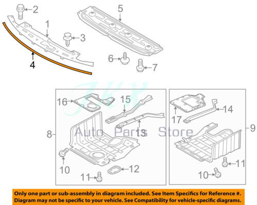 Front Bumper Trim Hood Sealing Strip 86357-2T000 Fit For Kia Optima 2011-2015