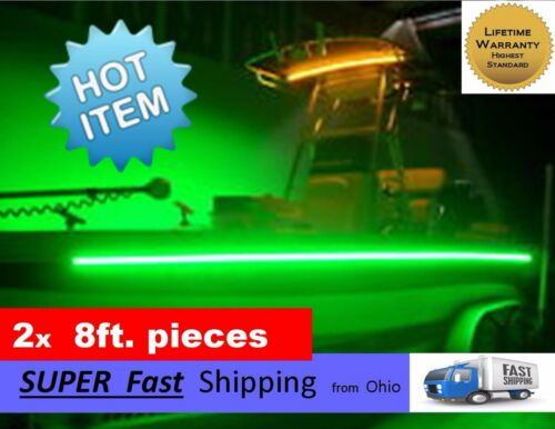 /_/_/_/_ GREEN boat kit x2 pieces NEW 8ft each pontoon or fishing boat part