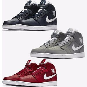 half off b438a 1bb9d ... Image is loading NIKE-AIR-JORDAN-AJ-1-MID-MEN ...