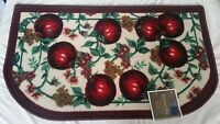 Rare Egyptian Printed Kitchen Rug (18 X 30), Lots Of Apples