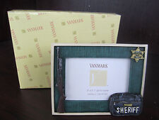"VANMARK PROTECTORS OF PEACE  5"" x 3 1/2"" Photo Frame POLICE 81740 new in box"