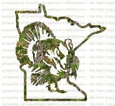 Camouflage Camo Minnesota Gobbler Hunter Hunting Vinyil Decal Sticker Turkey