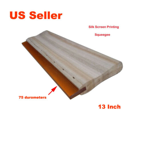 "Screen Printing Squeegee Silk Screen Squeegee 75 Durometer 33cm 2pcs 13/"""