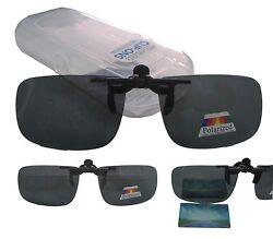 Sonnenschutz Brillen Aufsatz Clip on POLARISIERT Überbrille inkl. Etui Clip-on S