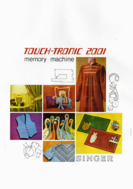 Singer 2001 Sewing Machine Touch-Tronic Memory Machine Owner's Manual on CD