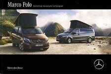 Mercedes Marco Polo MY 2016  08 / 2015 catalogue brochure