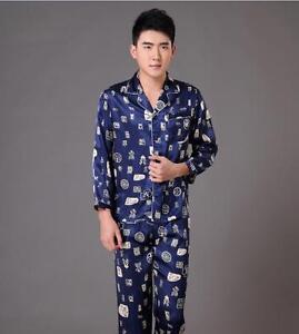 New style Summer Chinese Men s silk Kung Fu suit pajamas Sz M L XL ... da4828c66