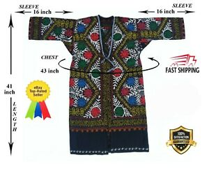 Embroidery-Vintage-Multicolor-Uzbek-Original-Suzani-Robe-Chapan-SALE-WAS-145-00
