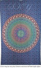 INDIAN MANDALA 6 ROUND PSYCHEDELIC TAPESTRY CEILING TWIN BLUE DECOR BEDDING S06F