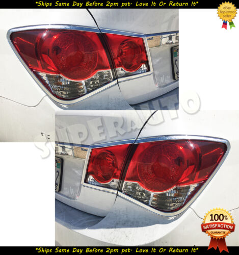 For 09 10 11 12 13 14 Chevrolet Cruze Chrome Tail Light Trims Covers
