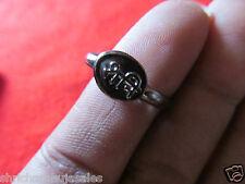 Real Black Horse Shoe Iron Ring Asli Kale Ghode ki Naal ki Angoothi Two 2 Piece