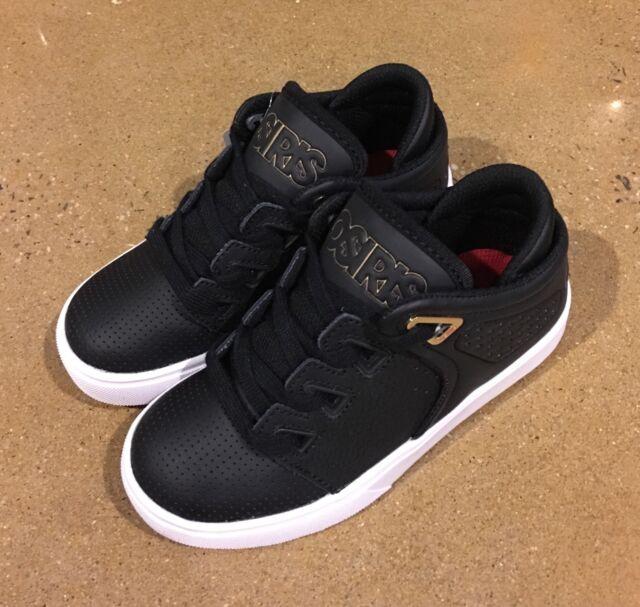 65f1564584 Osiris D3V Kids Size 4 Youth Black Gold White BMX DC Skate Shoes Sneakers