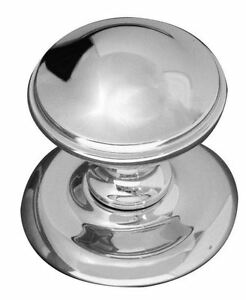 Image Is Loading Polished Chrome Round Centre Front Door Knob Door
