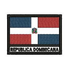 [Patch] BANDIERA REPUBBLICA DOMINICANA cm 7 x 5 toppa ricamo DOMINICAN REP. -280