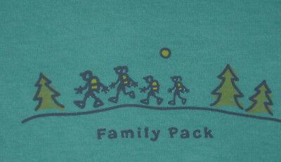 Life is Good Family Pack HIKING women/'s S//S  tee shirt Aqua Blue