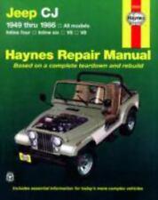 Haynes Repair Manual: Jeep CJ 1949 Thru 1986 : All Models by John Haynes and Larry Warren (1997, Paperback)