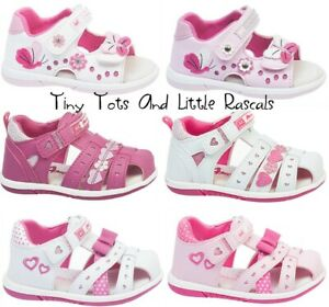 Toddler-Girls-Kids-Summer-Sandals-Beach-Occasion-Shoes-Leather-Insole-Size-4-8-5