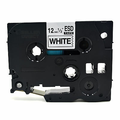 Compatible Brother TZ Label Tape Cartridge for P-Touch Printer - 12mm x 8m