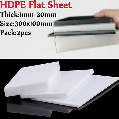 HDPE 300 mm x 214 mm x 15  mm PLASTIC SHEET BUILDING CRAFT FREE POST A4 SIZE