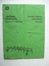 Original John Deere 1600m Series Mounted Chisel Plow Operators Manual Om N159271