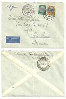 1937 Flugpostbrief FÜRSTENWALDE (SPREE) - Sao Paulo Brasilien