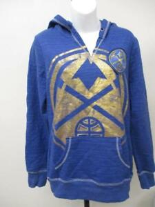New Denver Nuggets Womens Sizes S-M Blue Hoodie MSRP