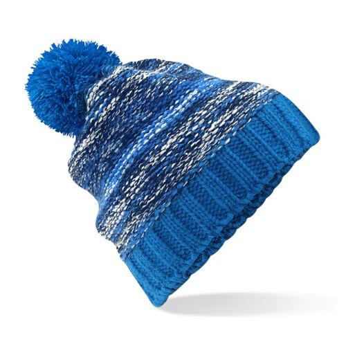 Mens Womens Warm Chunky Knit Soft Touch Acrylic Bobble Pom Pom Ski Hat Beanie