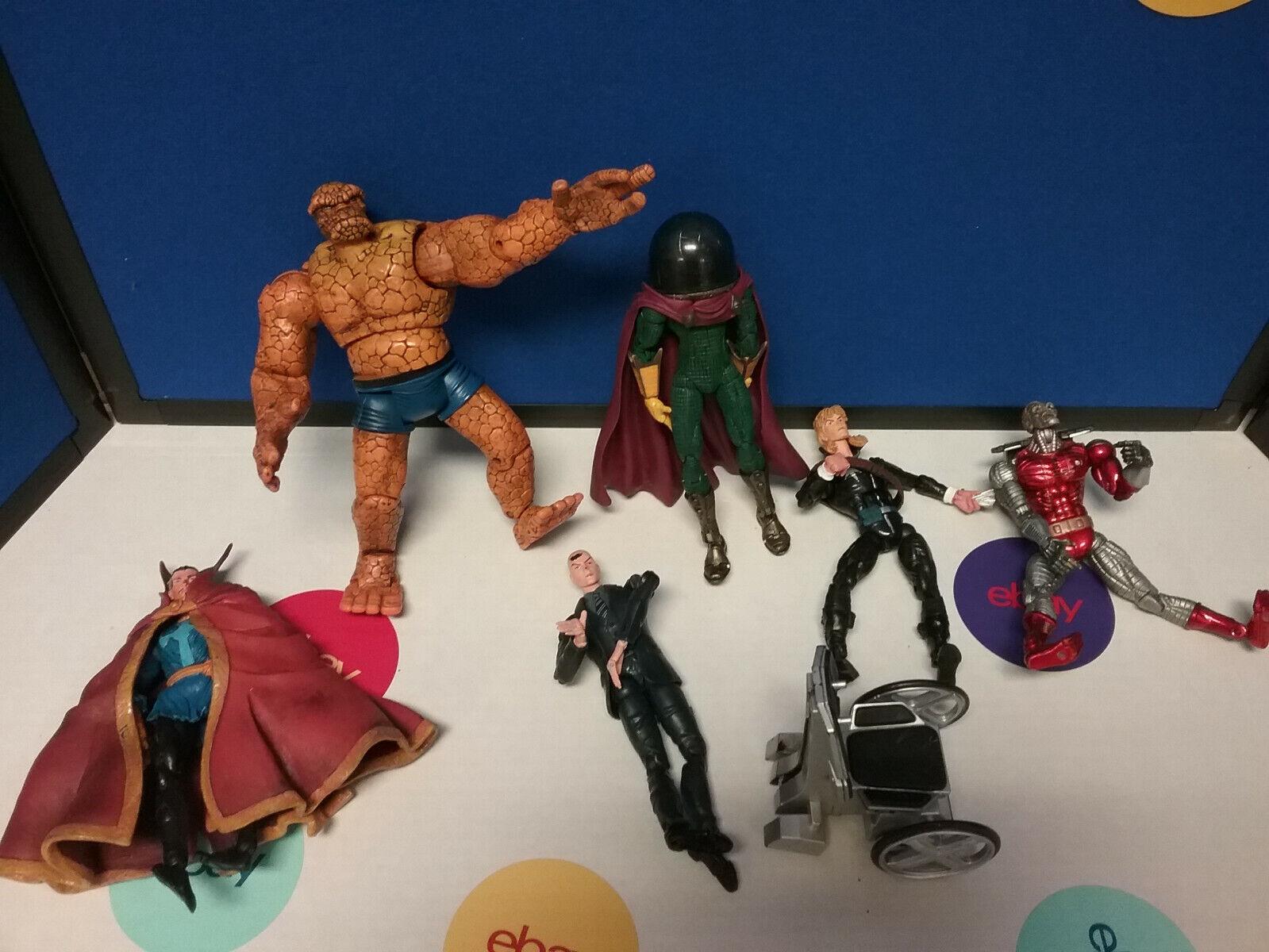 Marvel Legends Lot of 6 Thing Strange X Deathlok lungoscaliente Mysterio giocattolobiz Loose