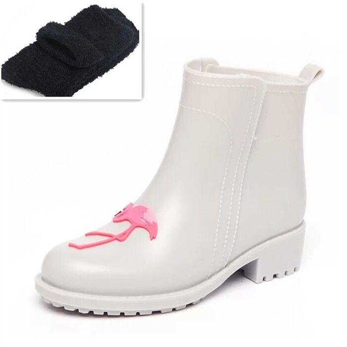 Flamingo Rain Boots Pvc Fashion Fashion Fashion Women Waterproof Ankle shoes Non-Slip Short Boot 2bc1a3