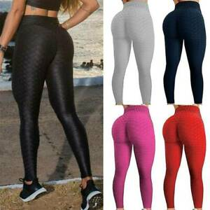 Pantalones Anticelulitis Yoga Mujer Push Up Leggings Cintura Alta Mallas Deporte Ebay