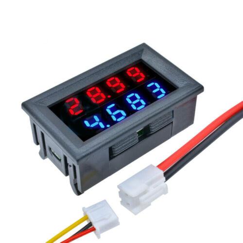 4-Bit DC 100V 10A Voltmeter Amperemeter LED Amp Dual Volt Meter Gauge Tester DE