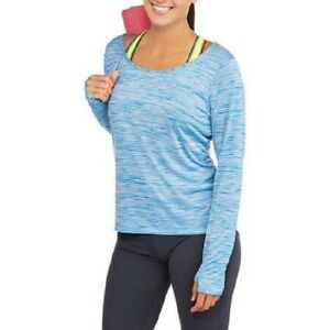 NWT-Danskin-Now-Sudio-Women-039-s-Long-Sleeve-Tee-with-Draped-Back-Fitness-Yoga-Top