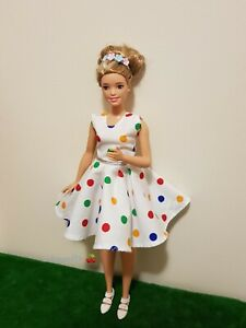 New-Curvy-Christmas-colourful-dress-for-Your-Curvy-Barbie-Doll-Au-Made