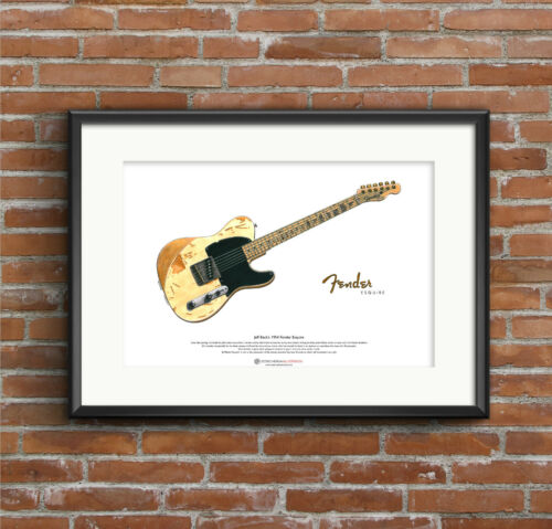 Jeff Beck/'s 1954 Fender Esquire ART POSTER A3 size