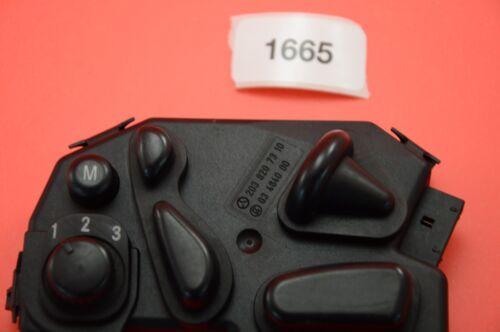 Y#11  01-05 W203 MERCEDES C230 C240 C320  FRONT LEFT DRIVER SEAT SWITCH CONTROL