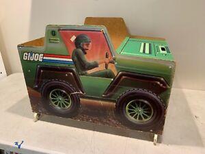 Rare 1983 Gi Joe Jeep Boîte à jouets American Furniture Company Boîte à jouets Hasbro (figure)