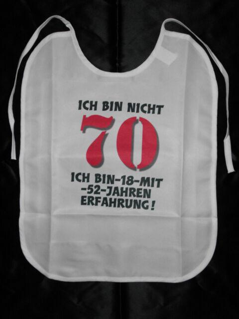 70.Geburtstag Lätzchen Für Erwachsene Witzige Geschenke Geburtstag  Scherzartikel