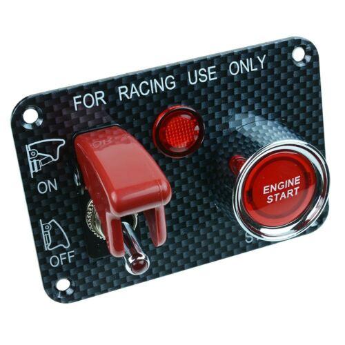 Rouge Automobile Course Voiture Contrôle Panneau Démarrage Interrupteur 12V Dc